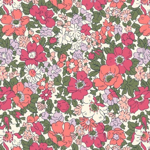 Liberty Of London  Cottage Garden Collection - Cosmos Meadow Dark Pink